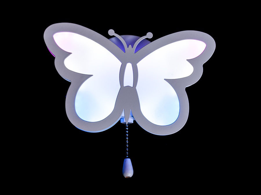 Бра лед светодиодное в виде бабочки настенное 20 Ват в белом цвете для детской Diasha&8067/1WH RGB