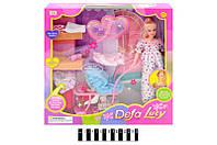 Лялька Defa Lucy (вагітна, з візочком та одягом) 8049