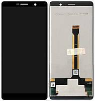 Дисплей (экран) для телефона Nokia 7 Plus (TA-1046, TA-1055) + Touchscreen Black