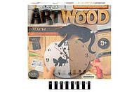 """Набір креативної творчості """"ARTWOOD настінний годинник"""" випилювання лобзиком LBZ-01-01,02,03,04,05 DANKO"""