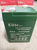 Аккумуляторная батарея Elite Lux  детского электромобиля 6V 6ah