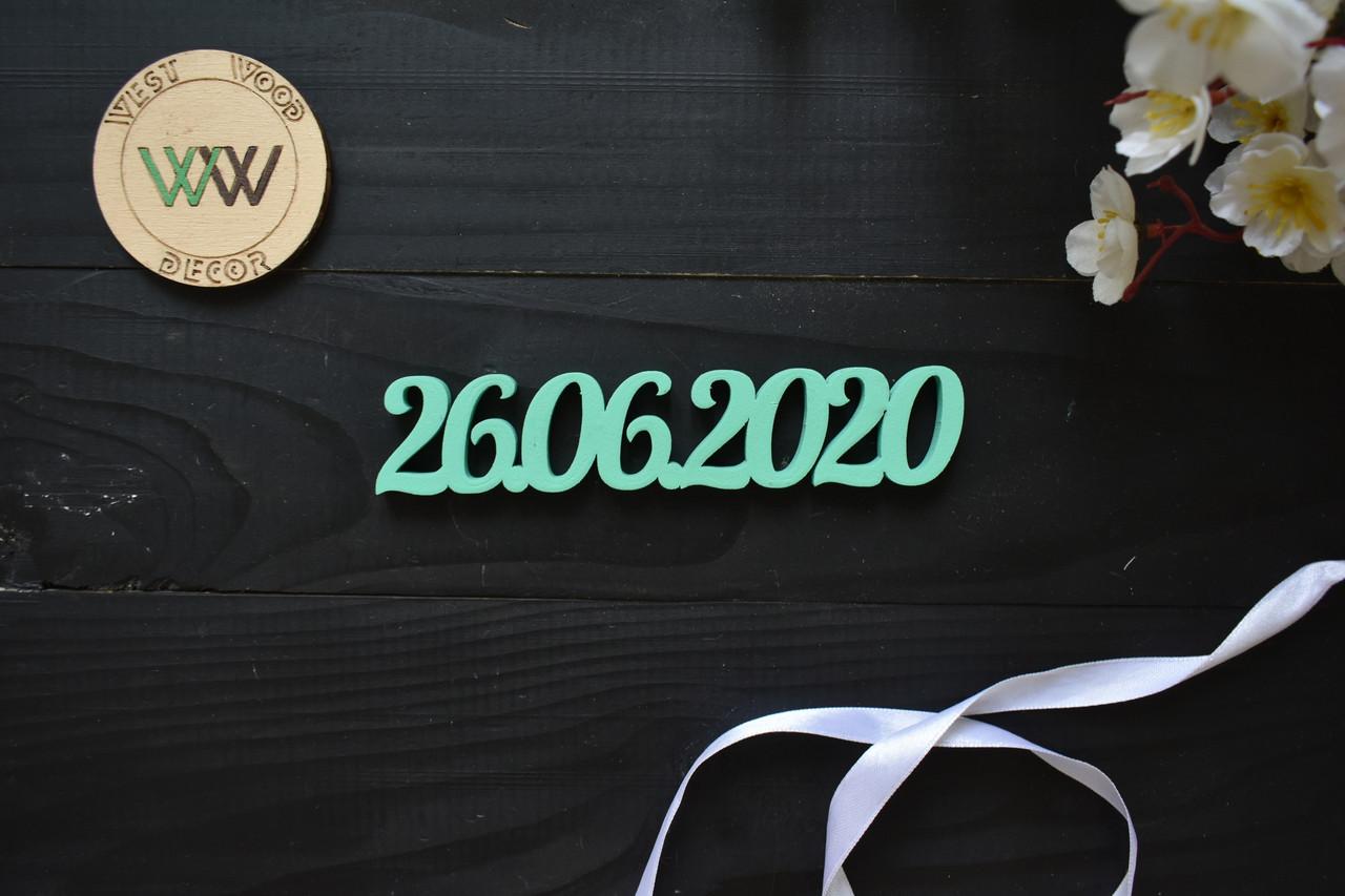 Дата из дерева для фотосессии. Объемные слова, надписи, таблички, имя из дерева. Об'ємні імена з дерева.