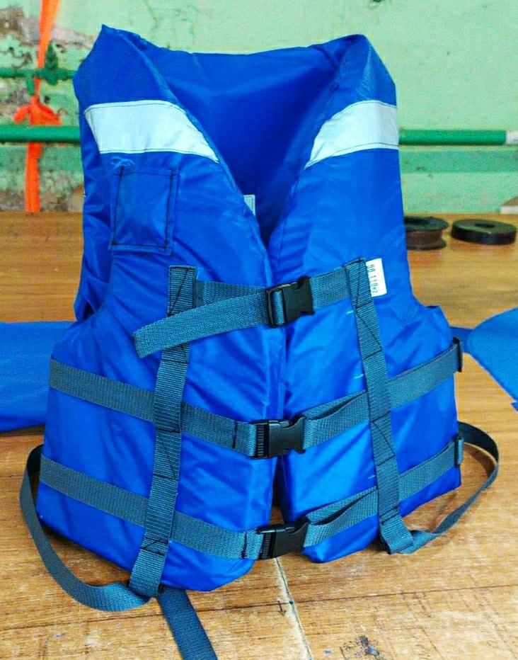 Жилет взрослый спасательный Fishmaster модель Extreme 50-70кг синий. ZS-5070-SS