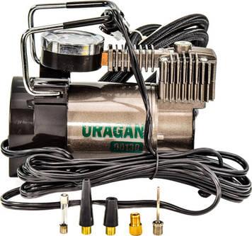Автокомпрессор Uragan / Ураган 90130 170вт/37л Метал радиатор Польша