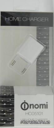 Nomi HC05101 сетевое зарядное устройство 1A 1 USB White, фото 2