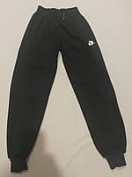 Чёрные спортивные штаны на байке для  мальчика 134 рост, фото 1