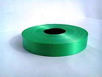 Зеленая лента полипропиленовая для упаковки цветов и подарков