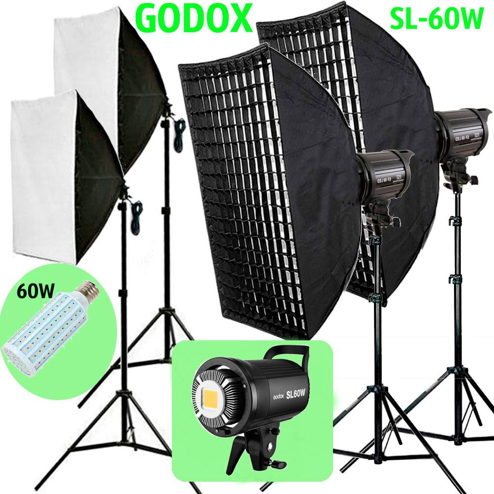 1,2 kW Комплект Godox LED професійного постійного видеосвета LED SL60WG-572 KIT