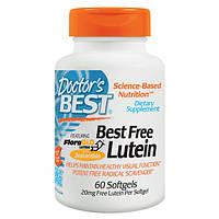 Лютеин для глаз, с зеаксантином, Doctor's Best, 20 мг, 60 капсул. Витамины для глаз