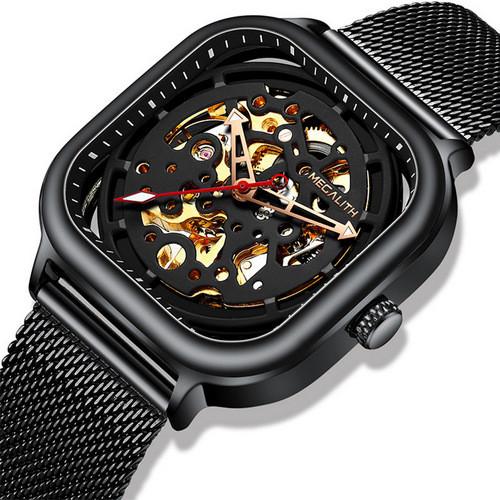 Оригінальні наручні годинники Megalith 8202M All Black | Оригінал Мегаліт