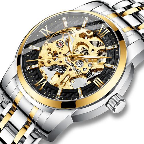Оригінальні наручні годинники Megalith 8205M Silver-Gold-Black | Оригінал Мегаліт