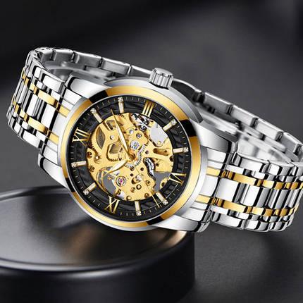 Оригінальні наручні годинники Megalith 8205M Silver-Gold-Black | Оригінал Мегаліт, фото 2