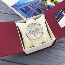 Наручные часы Emporio Armani Silicone 068 Gold-White, фото 3