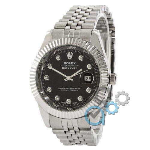 Наручные часы Rolex Date Just Silver-Black