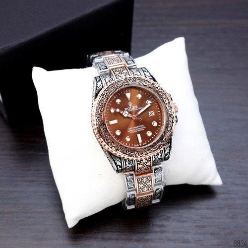 Наручний годинник Rolex SMT-Master II Silver-Cuprum-Brown