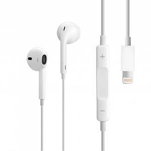 Наушники iPhone Lightning (MMTN2ZM-A) white