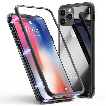 Чехол  накладка xCase для iPhone 11 Magnetic Case прозрачный черный, фото 2