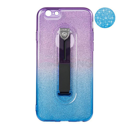 Чехол накладка для iPhone 7 Plus/8 Plus Remax Glitter Hold Series Blue/Violet