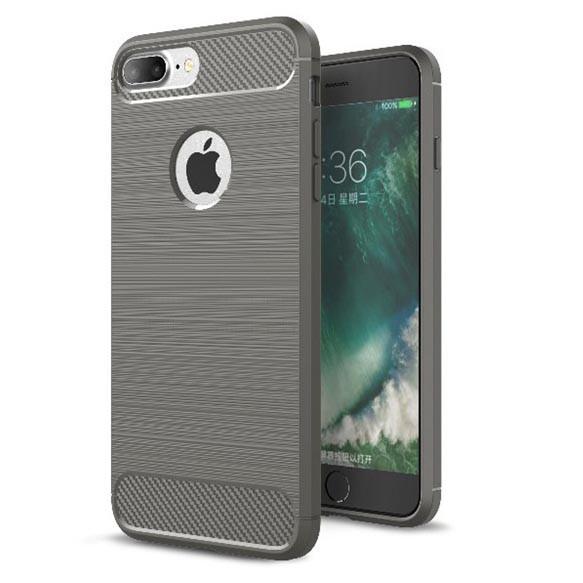 Чехол для iPhone 7 Plus/8 Plus Carbon Fiber серый