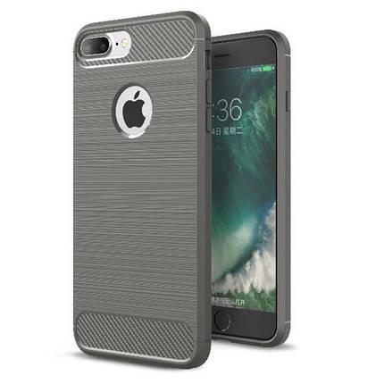 Чехол для iPhone 7 Plus/8 Plus Carbon Fiber серый, фото 2