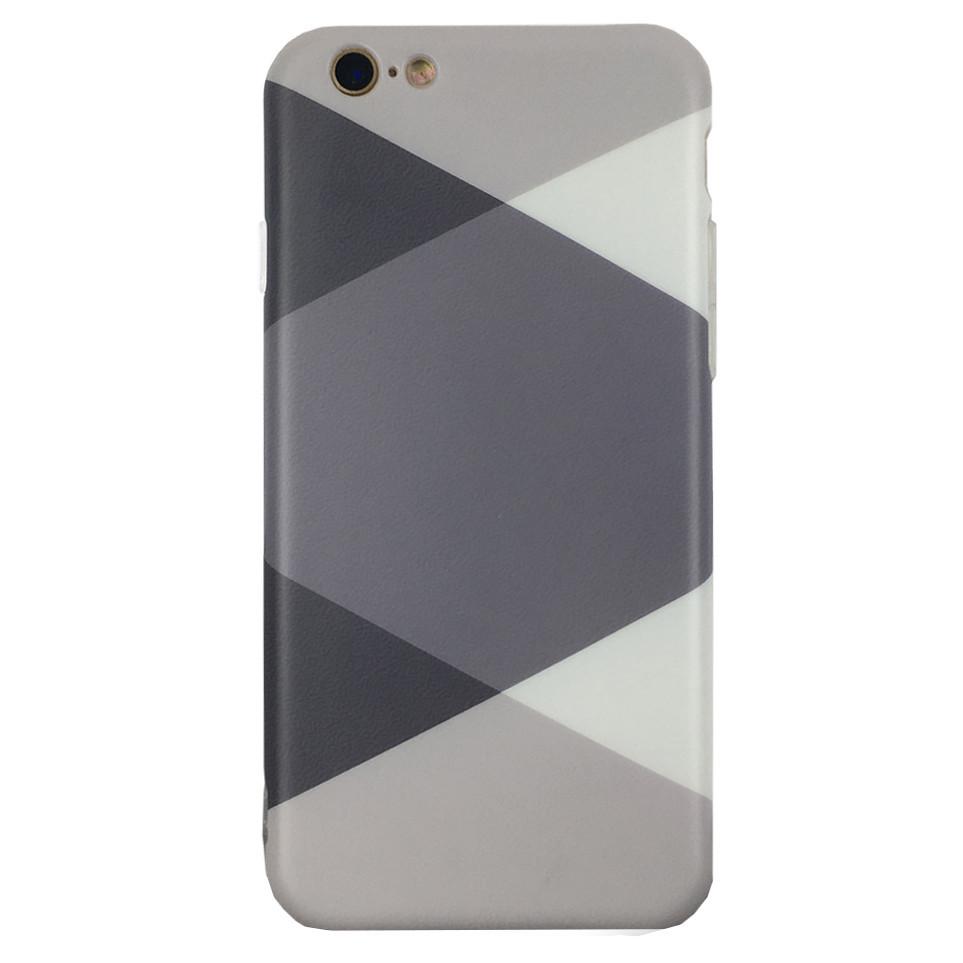 Чехол на iPhone  7 Plus/8 Plus с серыми ромбами, плотный силикон