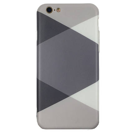 Чехол на iPhone  7 Plus/8 Plus с серыми ромбами, плотный силикон, фото 2