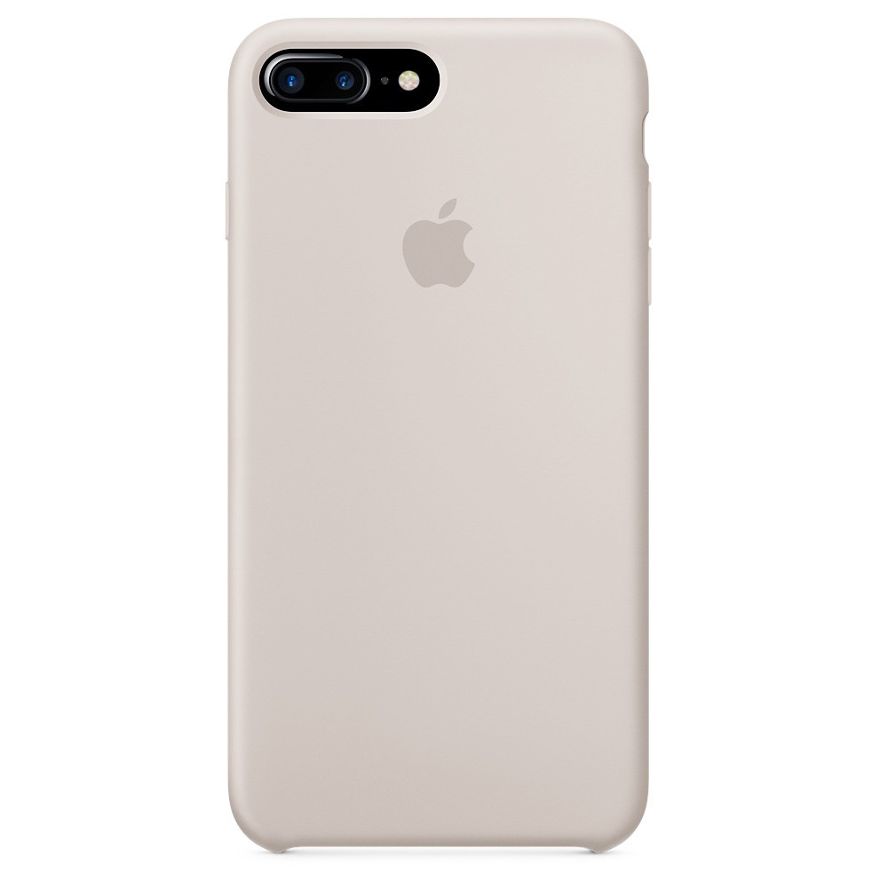 Чехол накладка xCase для iPhone 7 Plus/8 Plus Silicone Case светло-серый