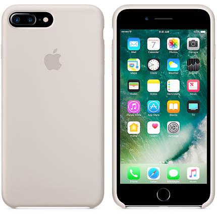 Чехол накладка xCase для iPhone 7 Plus/8 Plus Silicone Case светло-серый, фото 2