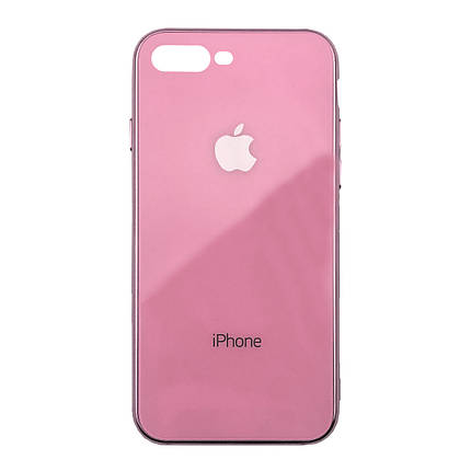 Чехол для iPhone 7 Plus/8 Plus Glass Case Logo Metallic pink, фото 2