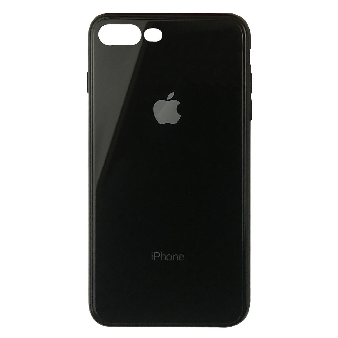 Чехол для iPhone 7 Plus/8 Plus Glass Case Logo black