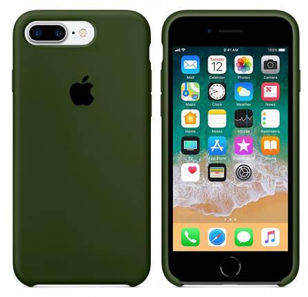 Чехол накладка xCase для iPhone 7 Plus/8 Plus Silicone Case Olive, фото 2