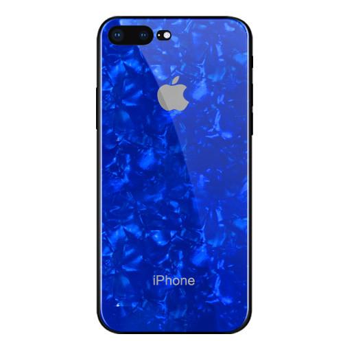 Чехол для iPhone 7 Plus/8 Plus Glass Marble Case blue
