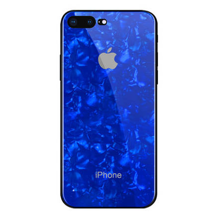 Чехол для iPhone 7 Plus/8 Plus Glass Marble Case blue, фото 2