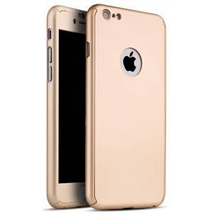Чехол для iPhone 7/8  Full Cover 360 Logo золото