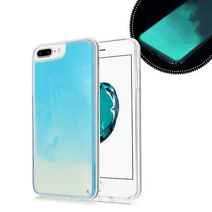 Чехол  накладка xCase для iPhone 7 Plus/8 Plus Neon Case sky blue, фото 2
