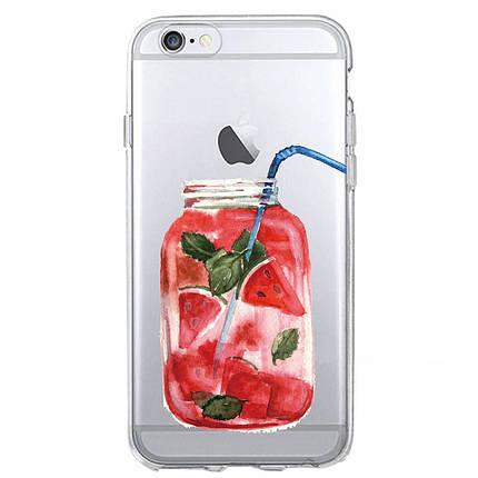Чехол для iPhone 7 Plus/8 Plus мохито с арбузом, фото 2