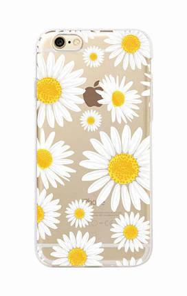 Чехол для iPhone 7 Plus/8 Plus прозрачный с ромашками, фото 2