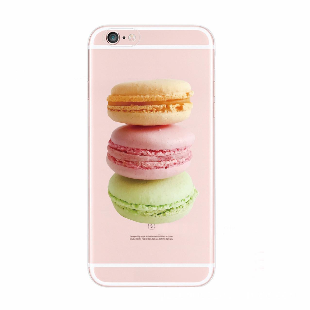 Чехол для iPhone 7 Plus/8 Plus прозрачный с макаронс
