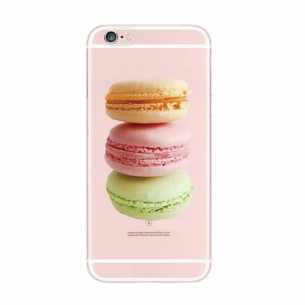 Чехол для iPhone 7 Plus/8 Plus прозрачный с макаронс, фото 2