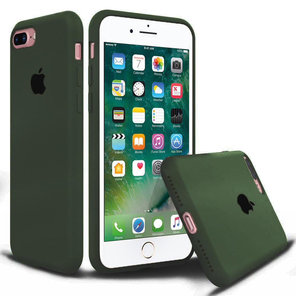 Чехол накладка xCase для iPhone 7 Plus/8 Plus Silicone Case Full olive