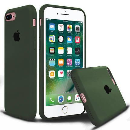 Чехол накладка xCase для iPhone 7 Plus/8 Plus Silicone Case Full olive, фото 2