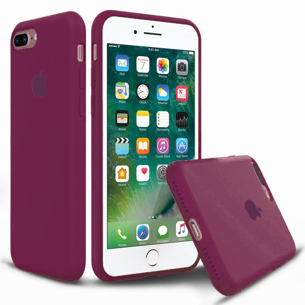 Чехол накладка xCase для iPhone 7 Plus/8 Plus Silicone Case Full rose red