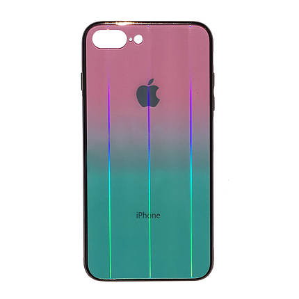Чехол для iPhone 7 Plus/8 Plus Glass Shine Case Logo pink mint, фото 2