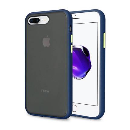 Чехол накладка xCase для iPhone 7 Plus/8 Plus Gingle series blue green, фото 2