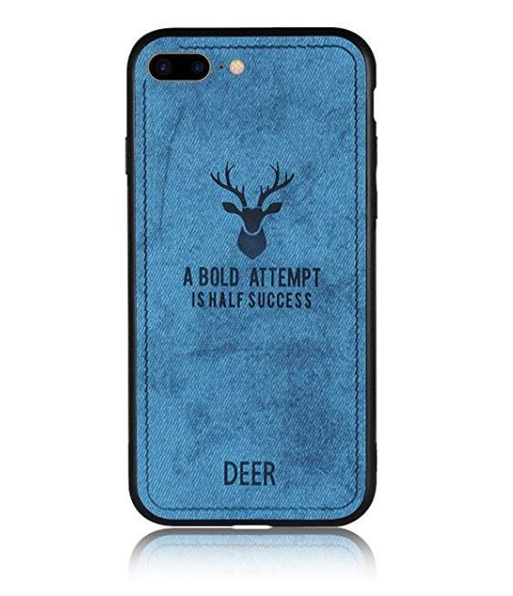 Чехол накладка xCase для iPhone 7 Plus/8 Plus Soft deer blue