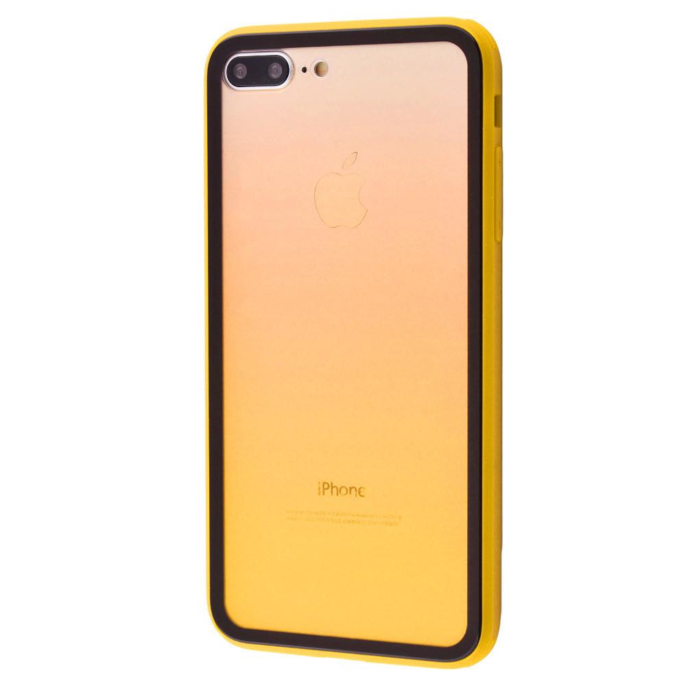 Чехол накладка xCase для iPhone 7 Plus/8 Plus Colorful Gradient case yellow