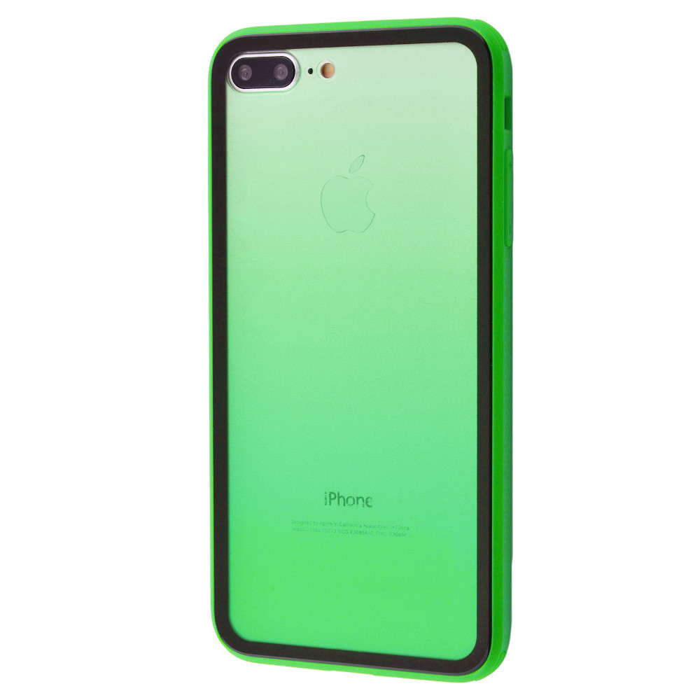 Чехол накладка xCase для iPhone 7 Plus/8 Plus Colorful Gradient case green