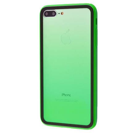 Чехол накладка xCase для iPhone 7 Plus/8 Plus Colorful Gradient case green, фото 2