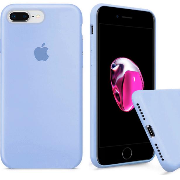 Чехол накладка xCase для iPhone 7 Plus/8 Plus Silicone Case Full светло голубой