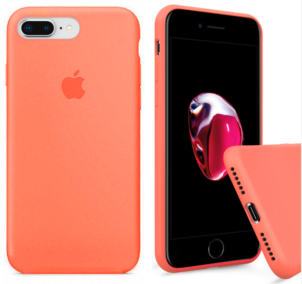 Чехол накладка xCase для iPhone 7 Plus/8 Plus Silicone Case Full papaya